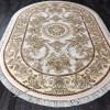 Бельгийский Ковер Для гостиной Светлый Медальон Арт 0445 Овальный
