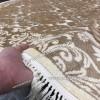 Бельгийский Ковер из Вискозы Дамаск Золотой Арт 0412 Овальный
