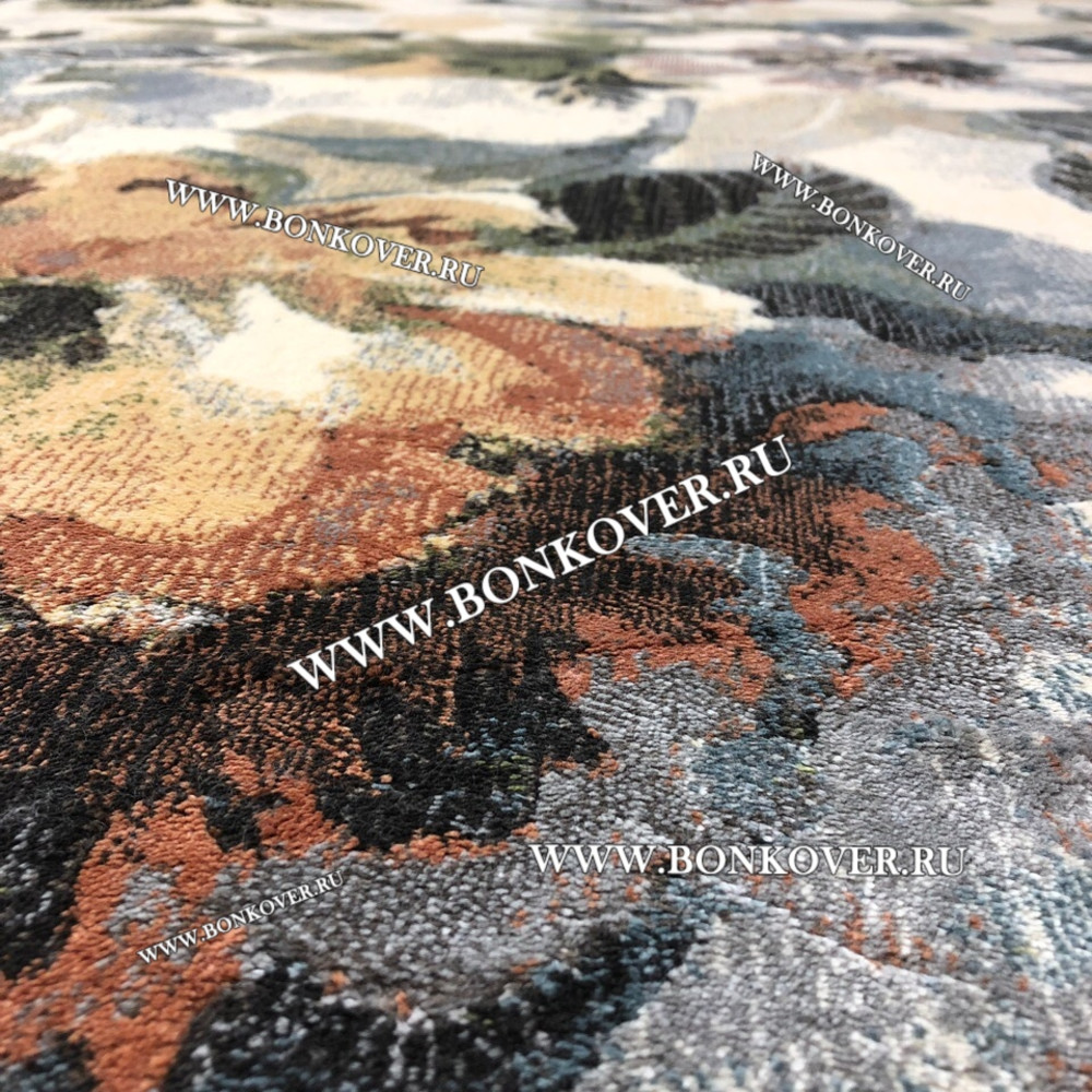 Бельгийский Ковер из Вискозы Дизайн 03 Цветочный