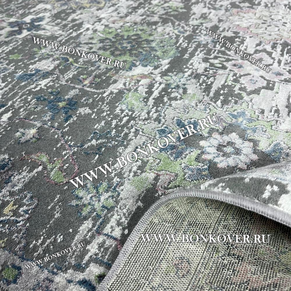 Современный Ковер из АртШелка Винтажный Разноцветный 09