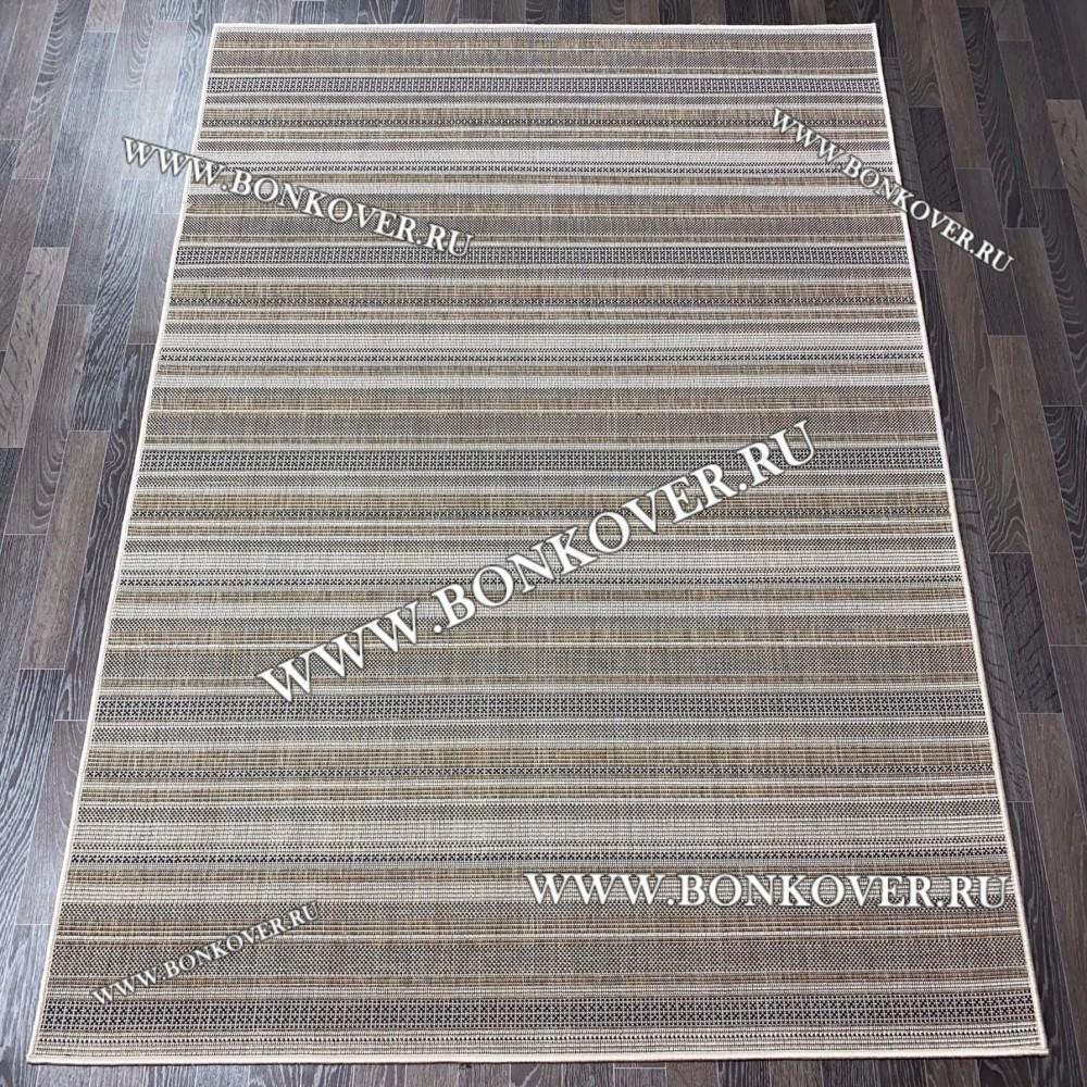 Безворсовый ковер Циновка Дизайн 12 Brown Прямоугольный