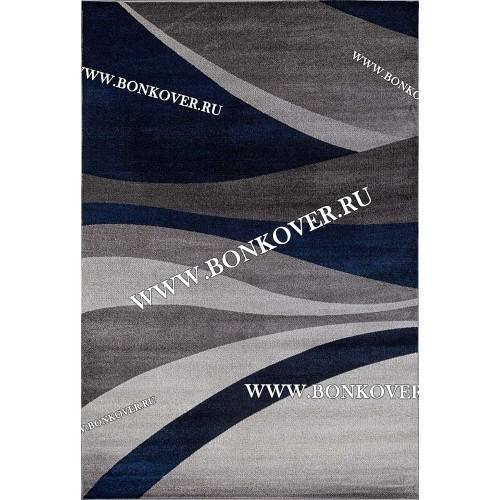 Современный Ковер Для Комнаты Дизайн 51 Волна Серый с Синим