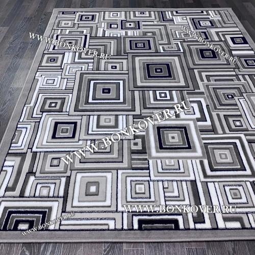 Ковер Лайт Карпет New 2 Дизайн 09 Серый Прямоугольный